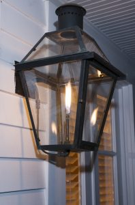 Gas Lanterns throughout the property